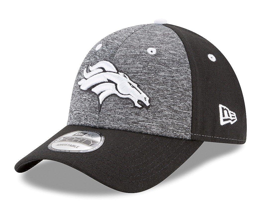 Black Denver Broncos New Era 9Forty NFL League Shadow 2 Adjustable Hat