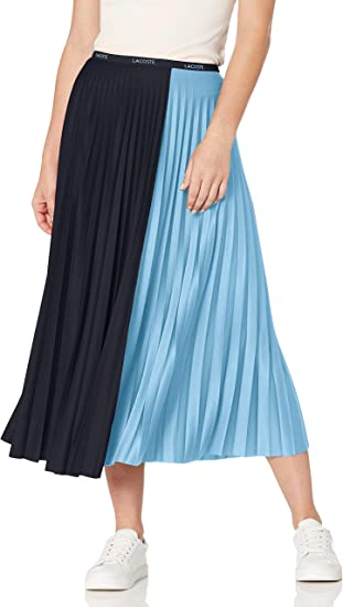 Lacoste Women's Colorblock Pleated Long Skirt