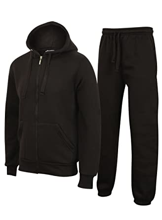 Clothing, Shoes & Accessories Men's Clothing New Mens Tracksuit Set Fleece Hoodie Top Bottoms Jogging Joggers Gym Contrast