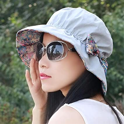 YXLMZ Señoras Mujeres Sombreros Tapa Exterior Four Seasons Visera Plegable  macetas Rotas Sombreros Sombreros de Moda bb38ef65999