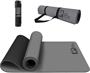 iMustech Yoga Mat Thick Non Slip Workout Mats for Home Eco Friendly Yoga Mats for Women Men Fitness Thick Exercise Yoga Mats with Carrying Strap and Bag for Yoga, Pilates and Floor Exercises
