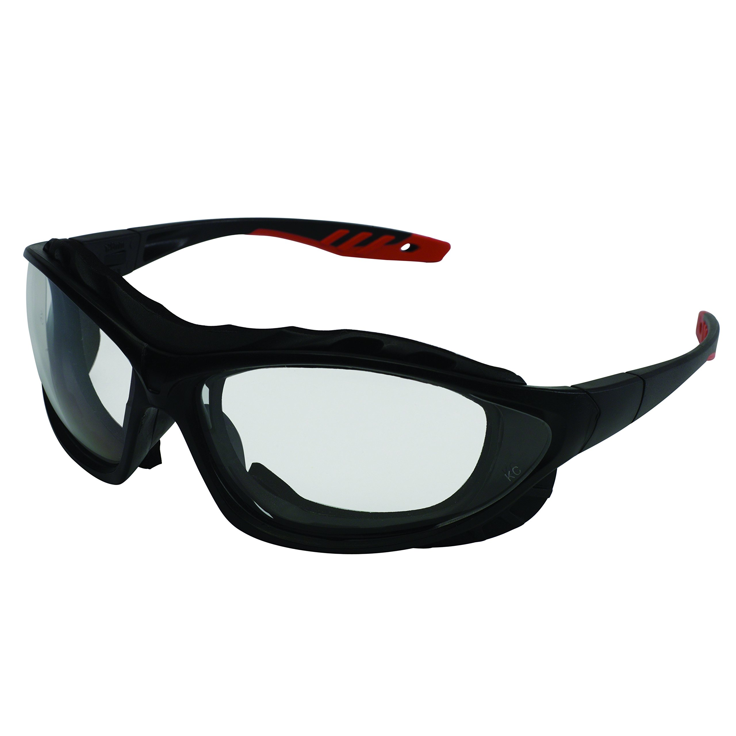 Jackson Safety 33345 V50 Epic Safety Eyewear, Clear Super Anti-Fog Lenses with Interchangeable Temples and Head Strap (Pack of 12)