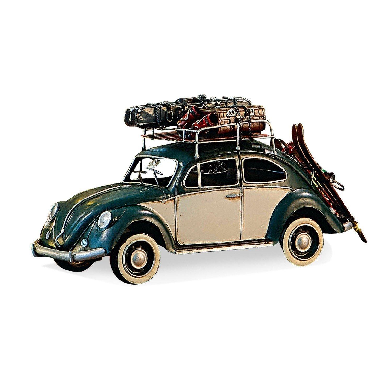 Loberon Auto Dawlish, Eisen, H B T ca. 17,5 35   12,5 cm, grün