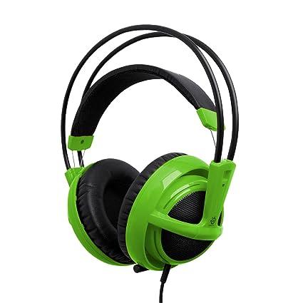 131d21efb02 Amazon.com: SteelSeries Siberia V2 Full-Size Gaming Headset (Green):  Electronics