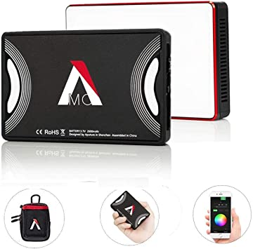 Aputure Amaran MC RGBWW Mini On Camera Video Light,3200K-6500K,CRI//TLCI 96+,HSI Mode,Support Magnetic Attraction and App with USB-C PD and Wireless Charging