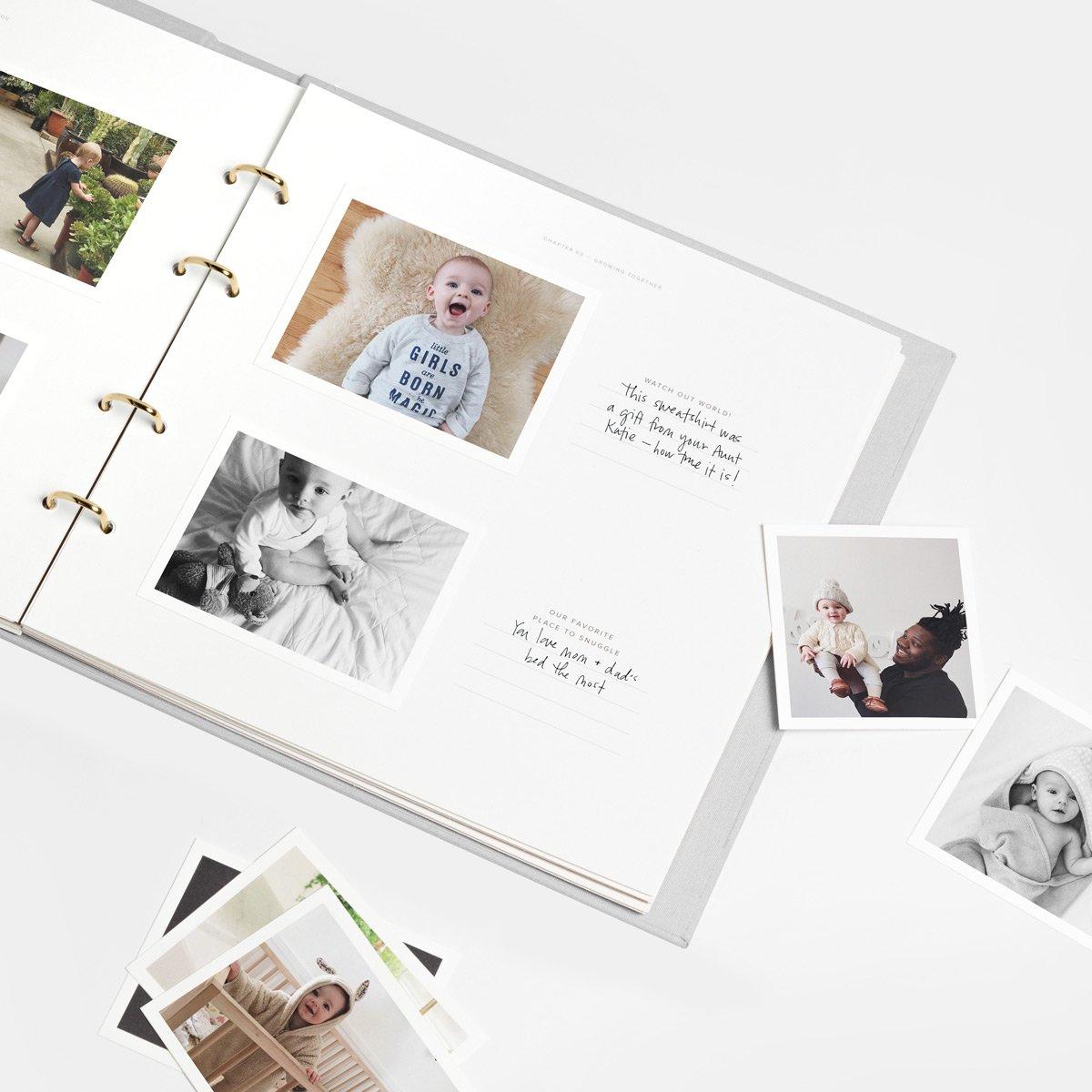 Artifact Uprising Baby Book Photo Album   Baby's First Year Memory Book (Smoke Grey) by Artifact Uprising (Image #5)