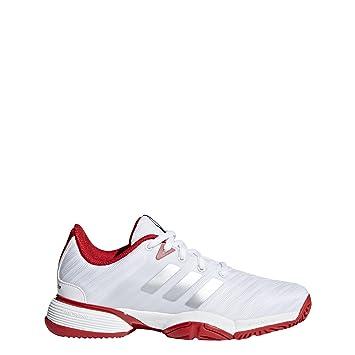 timeless design 1131c 125bd adidas Barricade 2018 Xj, Chaussures de Tennis Mixte Enfant, Blanc  NegbasFtwbla 000, 33 EU Amazon.fr Sports et Loisirs