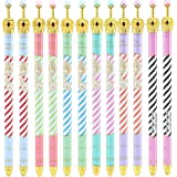 Pshine Creative Stationery Princess Crown Lovely Cute Stripe handwriting Automatic Mechanical Pencil set,0.5mm,pack of 12(stripe)