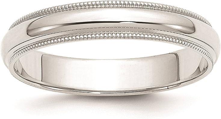 Jewelry Best Seller 14k 3mm Milgrain Half-Round Wedding Band
