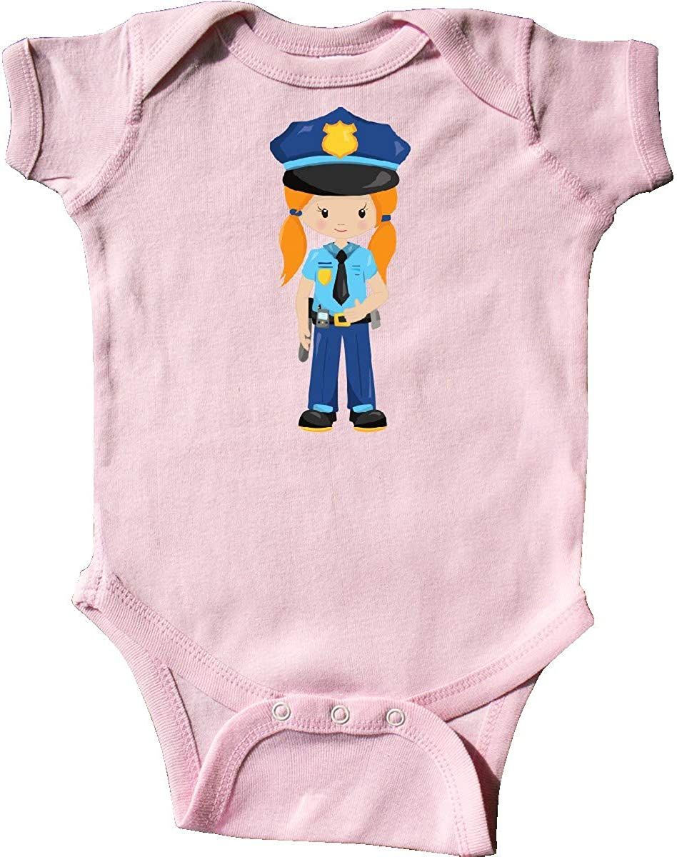 Police Girl Orange Hair Police Uniform Infant Creeper inktastic Cute Girl