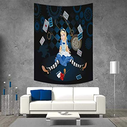 Smallbeefly Alice In Wonderland Home Decorations Living Room Bedroom Grown Size Sitting Flying Cards Rose