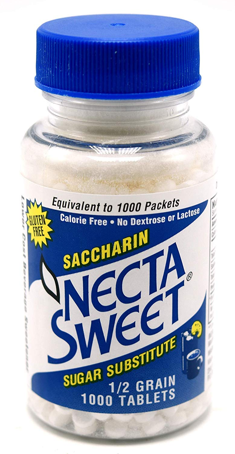 Necta Sweet Saccharin Tablets, 1/2 Grain, 1000 Tablet Bottle (Pack of 15) by Necta Sweet