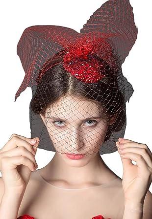 Drasawee Women\'s Bridal Birdcage Veil Crystal Wedding Hair Headband ...
