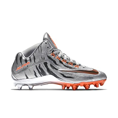 quality design 75f8c 2e167 Nike Alpha Pro TD Football Cleats Shoes Silver Chrome Hyper Crimson Mens  Size 10.5