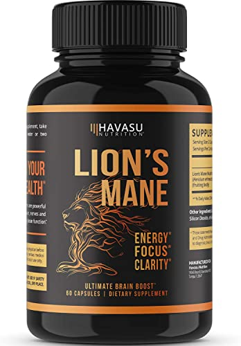 Havasu Nutrition Potent Immune Support Lions Mane Mushroom Capsules Designed to Boost Defense Increase Energy Non GMO 60 Capsules