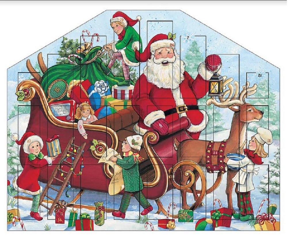 Byers Choice Traditions Santa's Helper Advent Calendar Sleigh Elves Reindeer