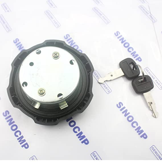 Amazon.com: 411-51122 Fuel Tank Cap - SINOCMP Fuel Cap For Kubota 151 161 185 Mini Excavator Q581 ZX KX91-3 & 265-8575 Wheel Loaders 901C, 903C Excavators ...