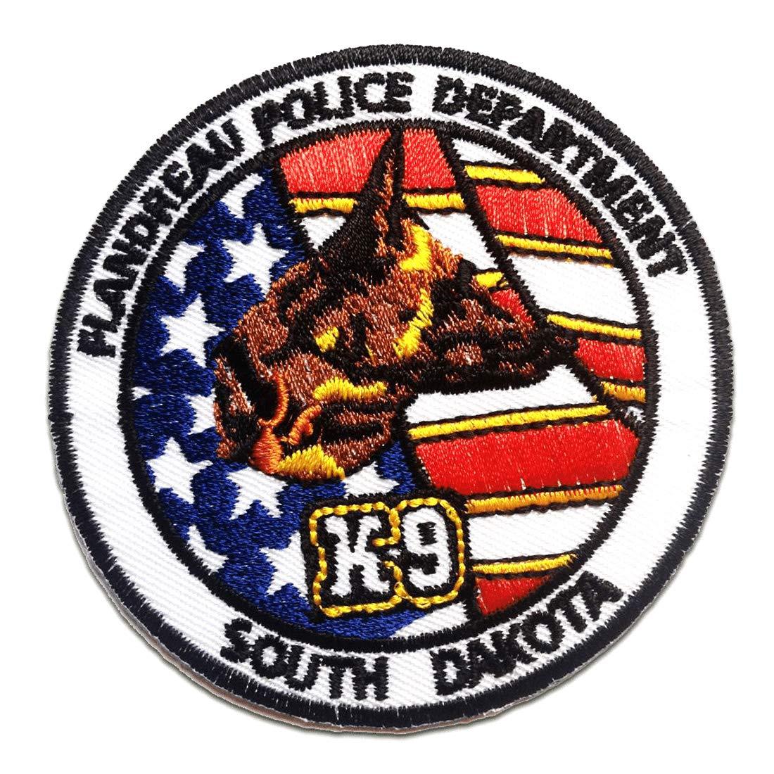 Parches - K9 Police Department Logo - colorido - 7.7x7.7cm - by catch-the-patch® termoadhesivos bordados aplique para ropa