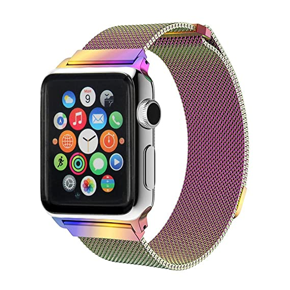 6615eabf34e3 Stainless Steel Milanese Loop Mesh Replacement Band with Adjustable  Magnetic Closure Clasp for Apple Watch Series