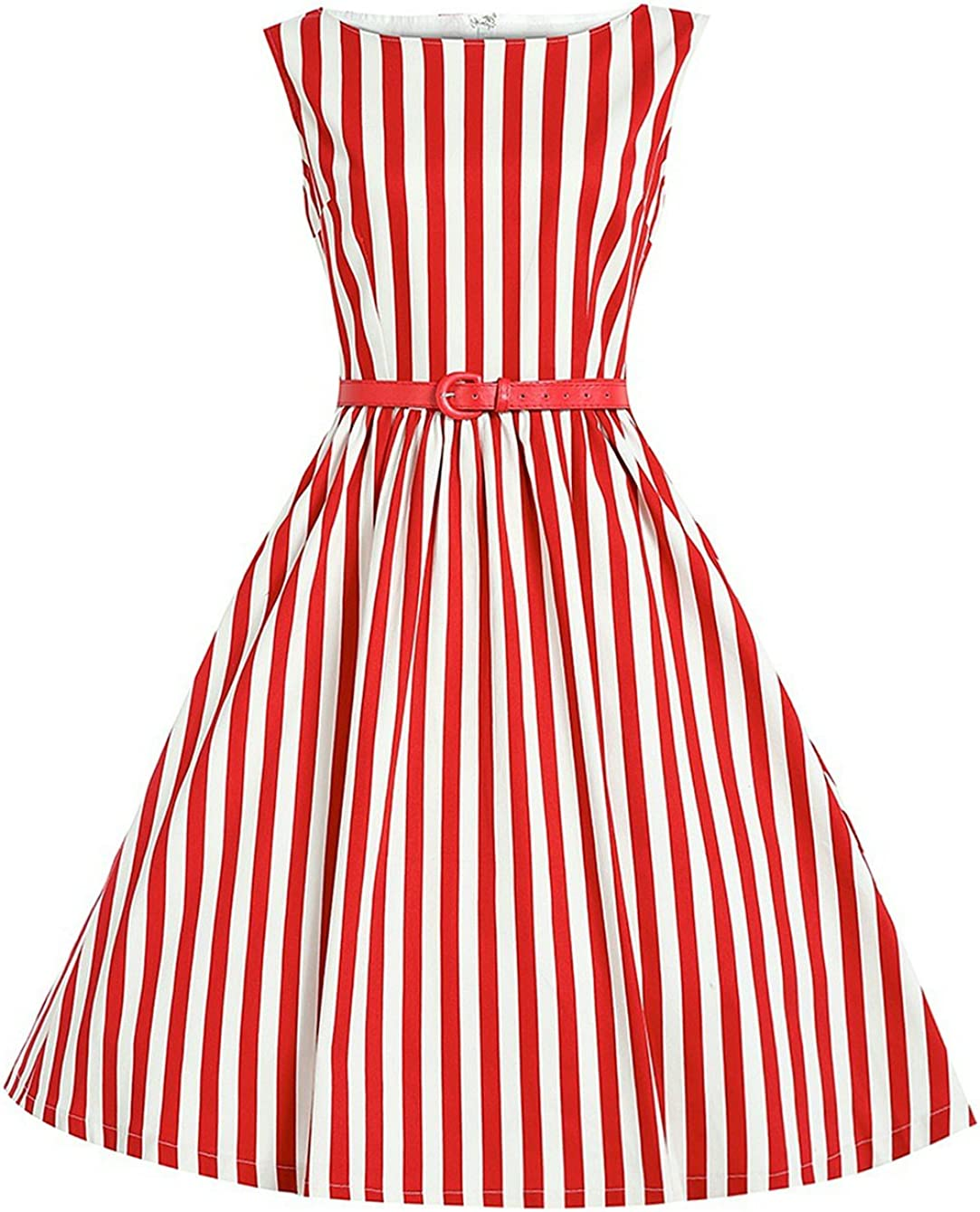 MisShow Women Striped 50s...