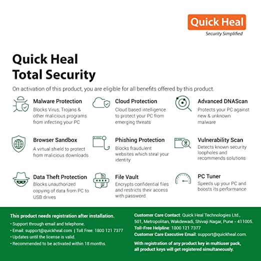 quick heal total security antivirus registration key