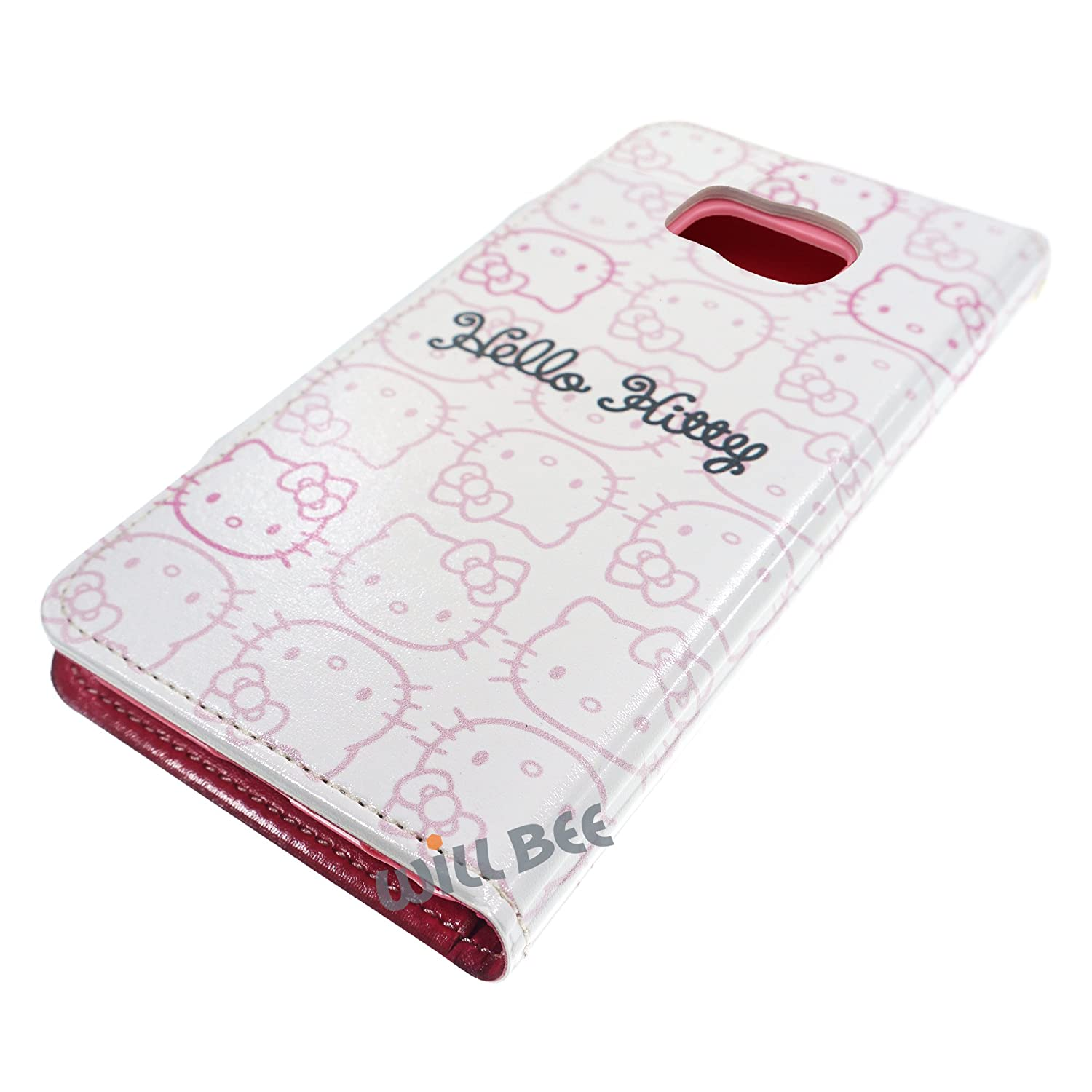 Double Sided Wallet 5.1 - Wallet Body Dot Pink Galaxy S6 Edge Case HELLO KITTY Cute Diary Flip Anti-Shock//Mirror // Coin Pocket Cover for for Samsung Galaxy S6 Edge