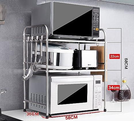 Amazon.com: Estantería de cocina de acero inoxidable para ...