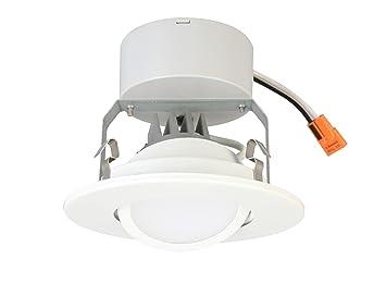lithonia lighting lithonia 4g1mw led m6 4inch matte white led gimbal module