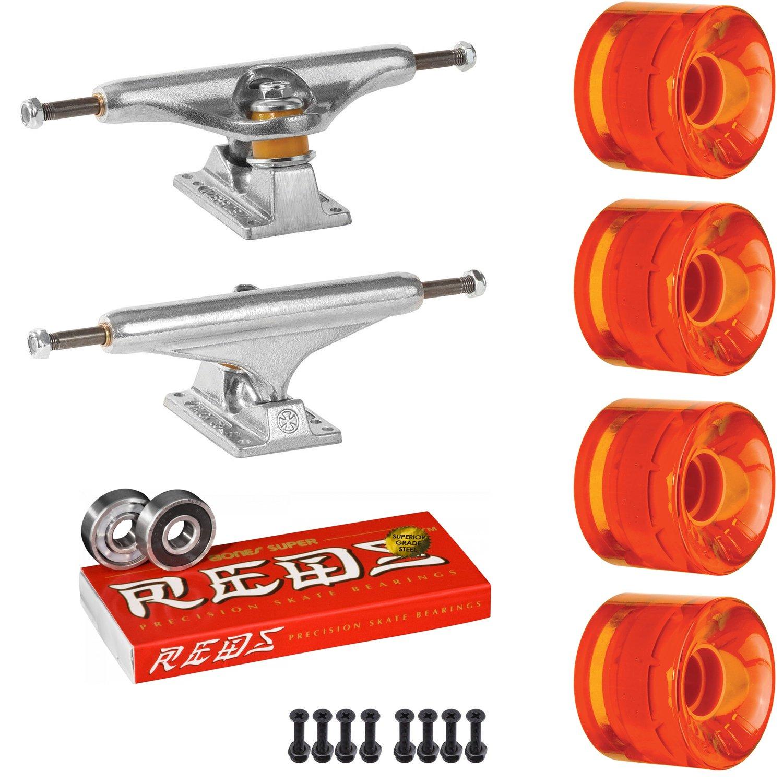 スケートボードキットIndy 159 Trucks OJ Mini Juice 55 mmホイールトランスオレンジSuper Reds   B07D1DB85T