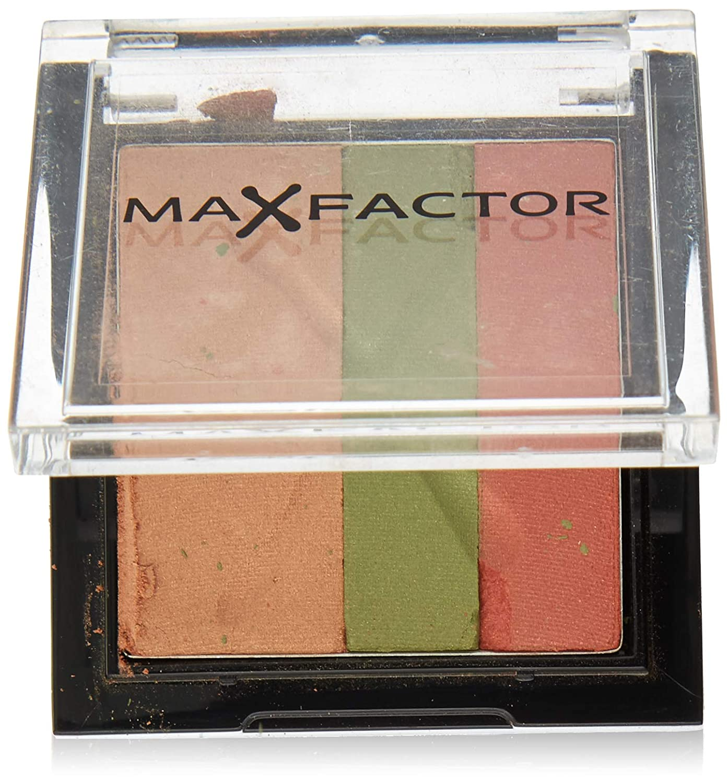 Max Factor Max Colour Effect Trio Eyeshadow for Women, 02 Rainforest, 0.12 Ounce