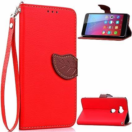 Huawei Honor 5X Wallet Funda,Carcasa PU Leather Cuero Suave Impresión Cover Con Flip Case TPU Gel Silicona,Hoja Cierre Magnético,Función de ...