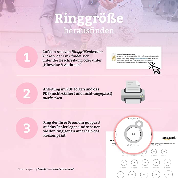 Ringgröße der freundin ermitteln