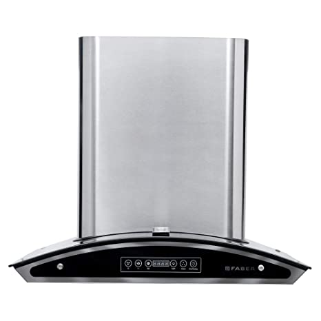 FABER 60 cm 1150 m3/hr Auto Clean Chimney (Premiere energy 60, Baffle Filter, Touch Control, Steel/Grey)