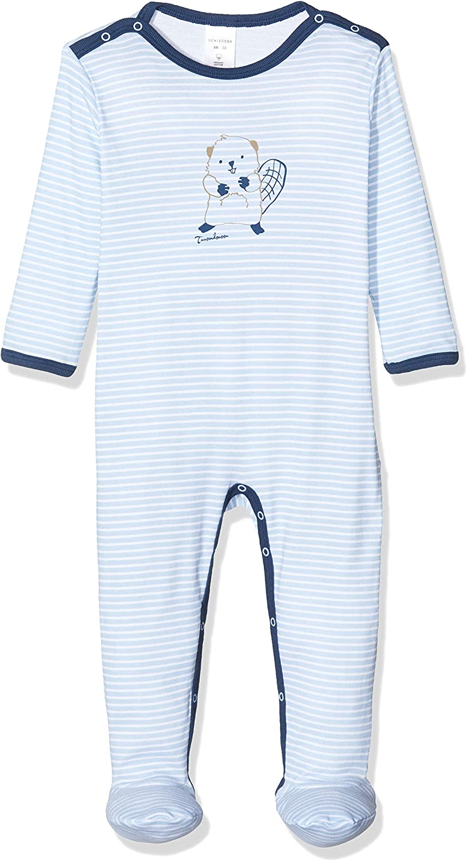 Schiesser Baby-Jungen Anzug mit Fu/ß Zweiteiliger Schlafanzug