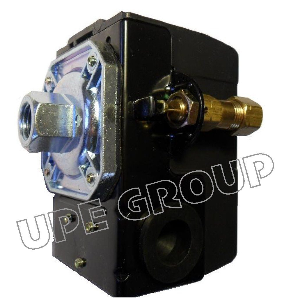 New Heavy Duty Pressure Switch for Air Compressor 25 amp 140-175 Single Port Connection w/ unloader & on/off lever - free shipping