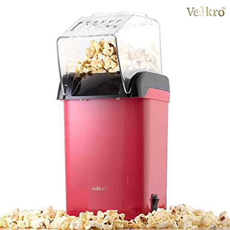 Krevia Red Hot Air Popcorn Maker Popper Popping Machine 1200 Watts Pots & Pans at amazon