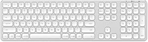 Satechi Aluminum Bluetooth Keyboard with Numeric Keypad - Compatible with iMac Pro/iMac, 2020/2018 Mac Mini, 2019 MacBook Pro, 2020 iPad Pro, 2012 & Newer Mac Devices (English, Silver)