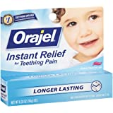 Baby Orajel Instant Relief for Teething Pain, Cherry Flavored 0.33 oz ( Pack of 2)