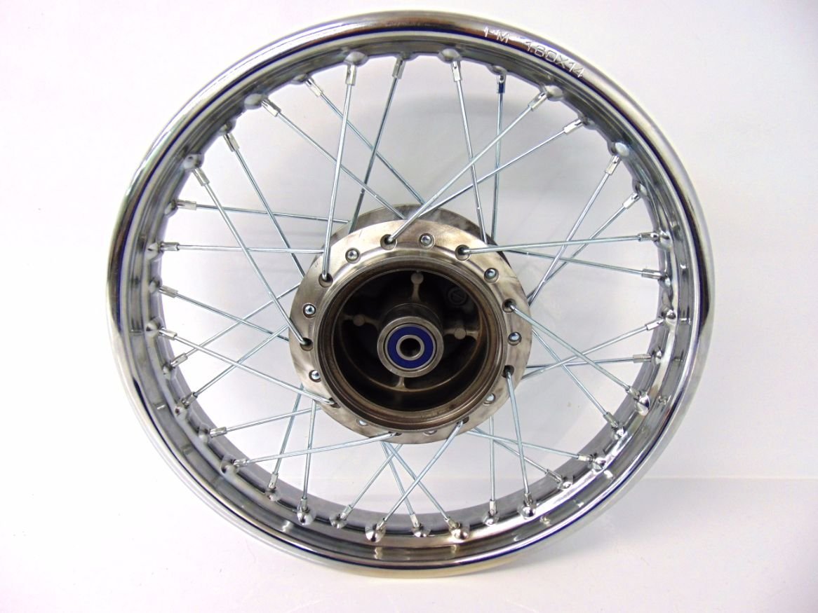 Compatible with Honda 1985-Up CRF 100 XR 100 CRF100 XR100 Rear Wheel Rim Spokes 16'' Complete by CRU
