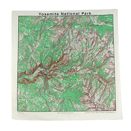 Amazon Com The Printed Image Topographic Map Bandana Yosemite