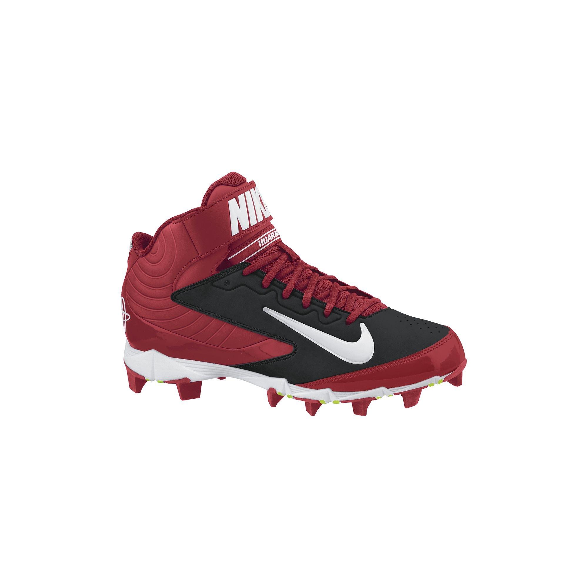 8f1a907355f3 Galleon - Nike Men s Huarache Keystone 3 4 Baseball Cleat Black Varsity Red White  Size 11.5 M US