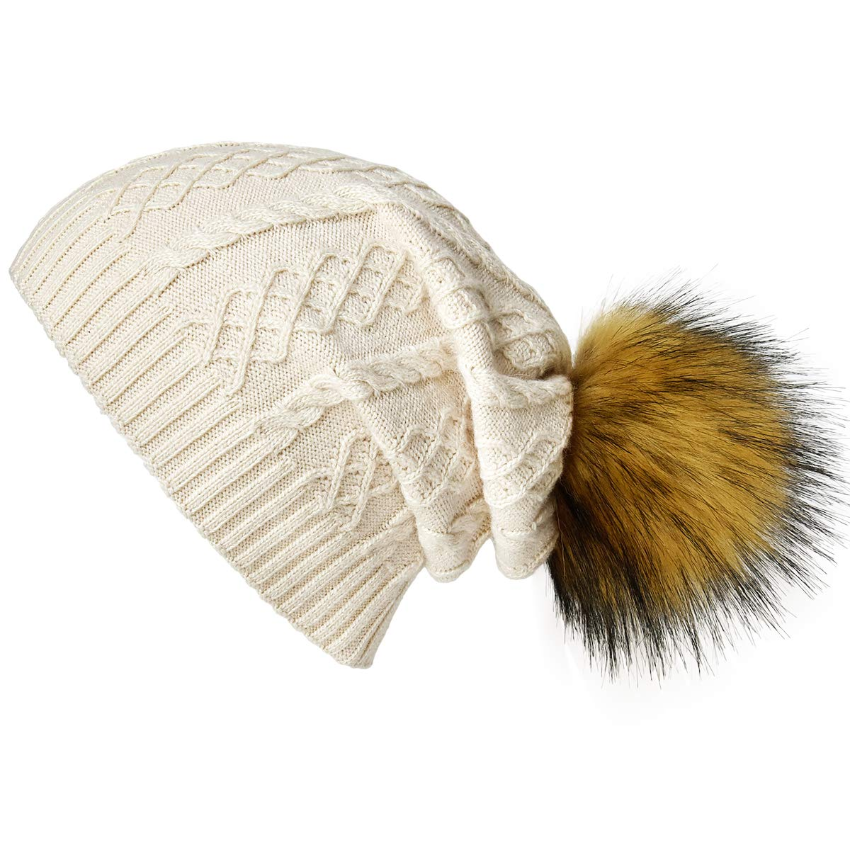 This Women beanies hat can give you fashion slouchy look and enough space  for thick hair 50a010e6e0c6