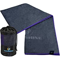 HOPESHINE Yoga Towel Non Slip for Hot Yoga Microfiber Yoga Mat Towel with Grip Perfect Size for Yoga Mat 183 cm X 61 cm