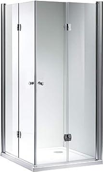 Cabina de ducha puerta plegable de 180 ° esquina ducha Mampara ...