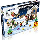 JJRC 741PCS Building Blocks for Kids Christmas Gifts Brick Blocks Kit with an Assembly Tool Christmas Surprise Santa Claus and Reindeer Christmas Decoration