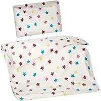 Aminata Kids - Kinderbettwäsche Sterne 100x135 cm