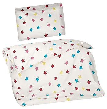 Aminata Kids Kinder Bettwäsche 100 X 135 Cm Stern E Star Sternchen