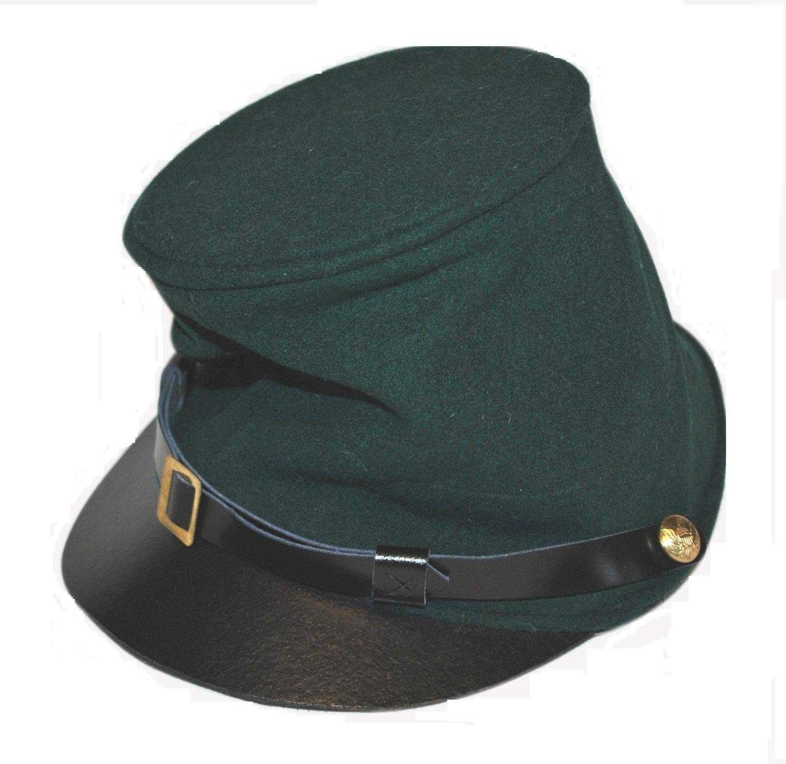 Core Plus Civil War Union Bummer Cavalry Full Leather Peak Kepi
