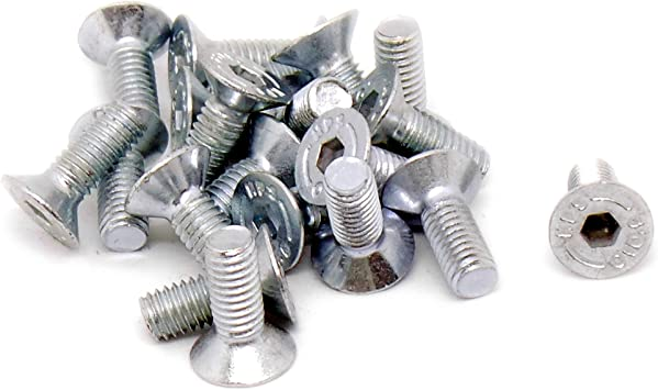 Pack de 20 acero 5 mm x 10 mm Hex Socket cabeza avellanada tornillos tornillos M5