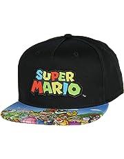 Nintendo Super Mario Youth Embroidered Character Group Boys Adjustable Snapback Hat Baseball Cap